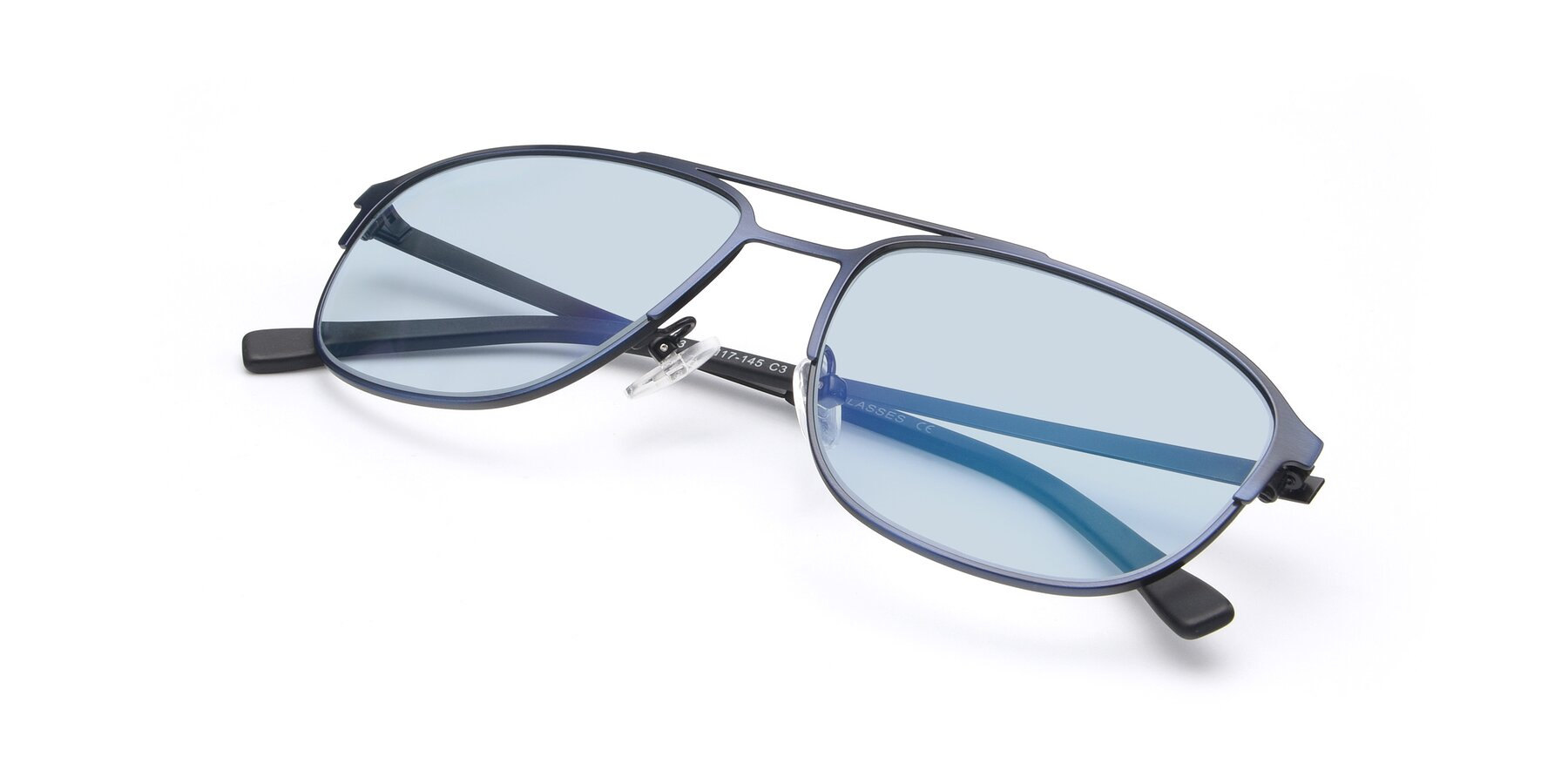 View of 9513 in Antique Blue with Light Blue Tinted Lenses