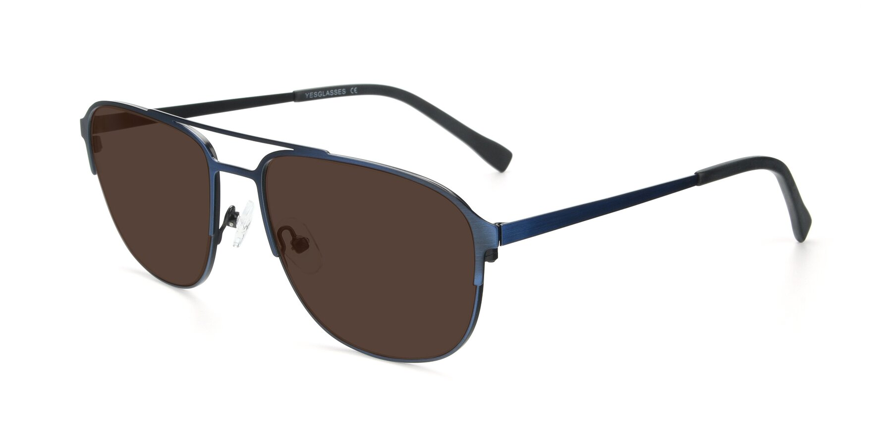 Angle of 9513 in Antique Blue with Brown Tinted Lenses
