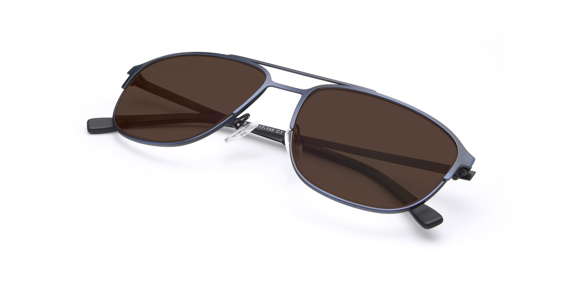 View of 9513 in Antique Blue with Brown Tinted Lenses