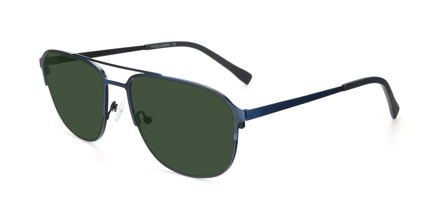 Angle of 9513 in Antique Blue with Green Tinted Lenses