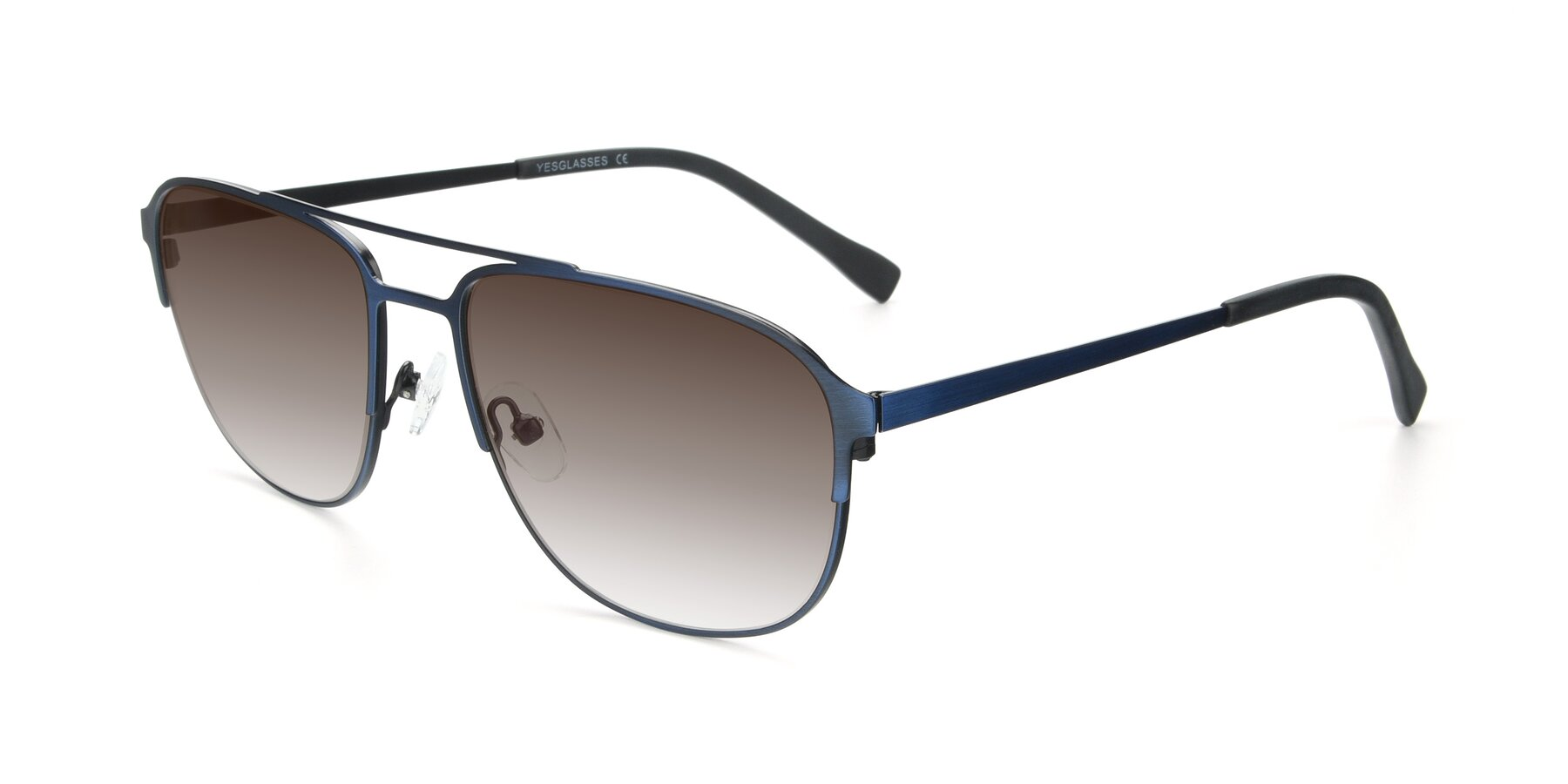 Angle of 9513 in Antique Blue with Brown Gradient Lenses