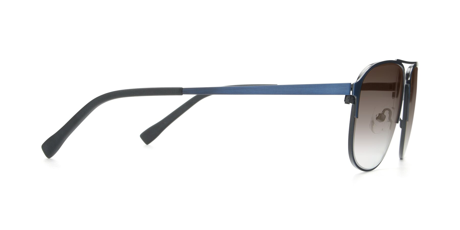 Side of 9513 in Antique Blue with Brown Gradient Lenses