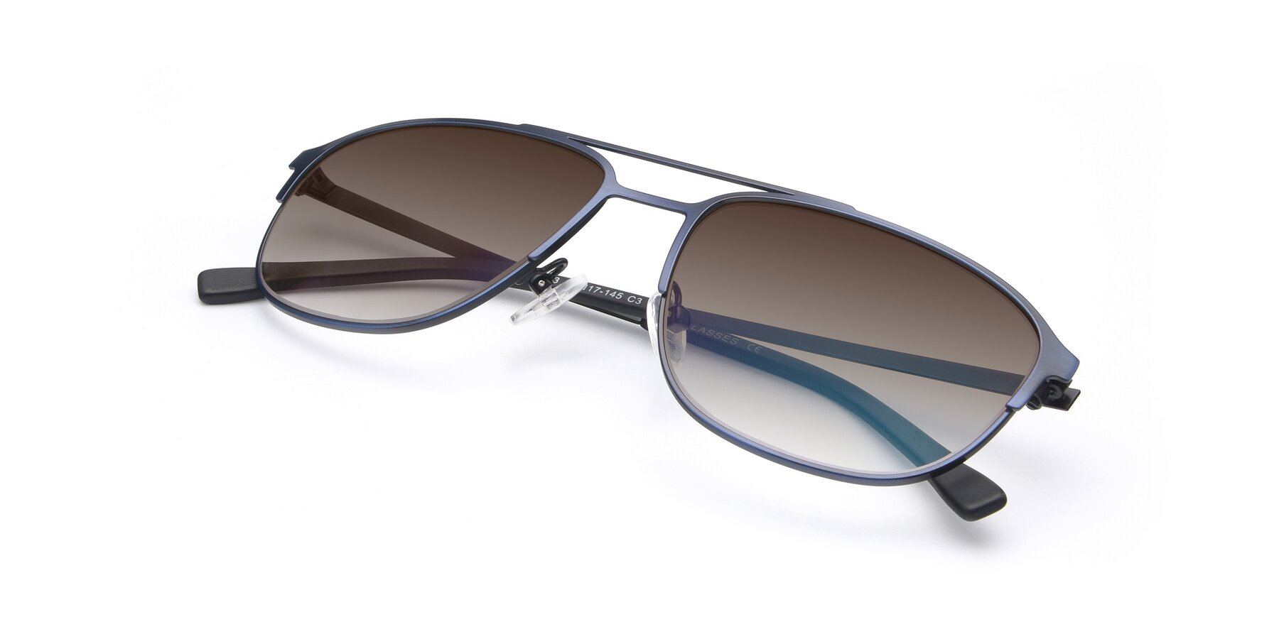 View of 9513 in Antique Blue with Brown Gradient Lenses