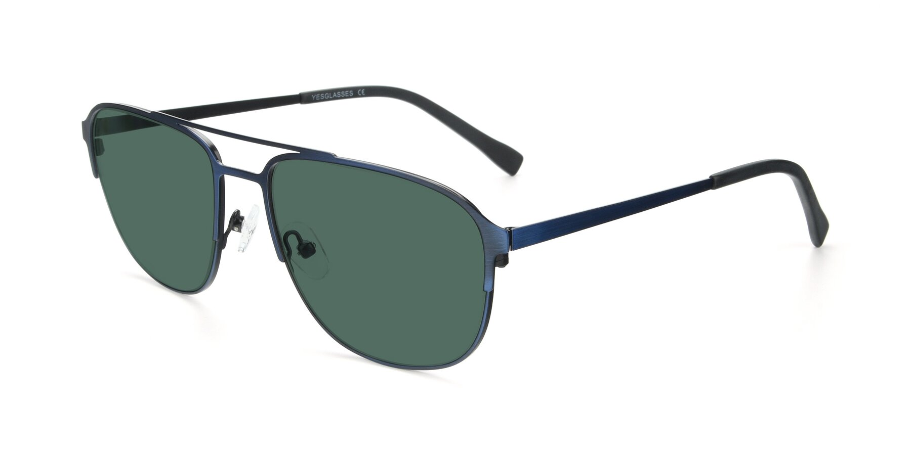 Angle of 9513 in Antique Blue with Green Polarized Lenses