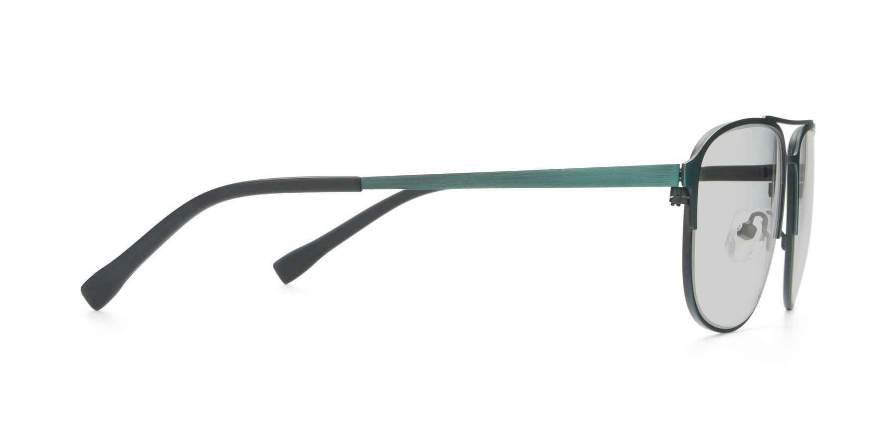 Side of 9513 in Antique Green with Light Gray Tinted Lenses