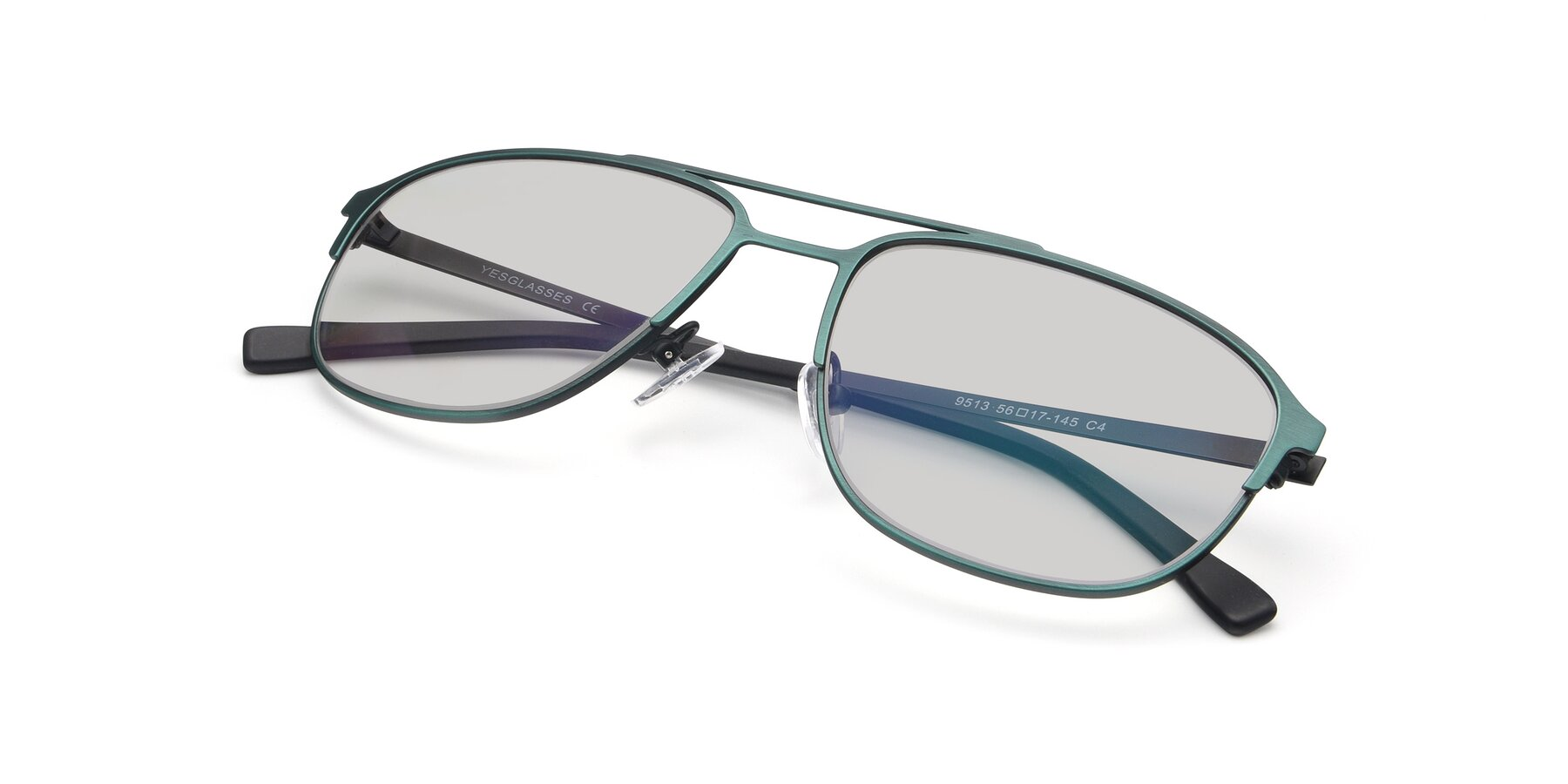 View of 9513 in Antique Green with Light Gray Tinted Lenses