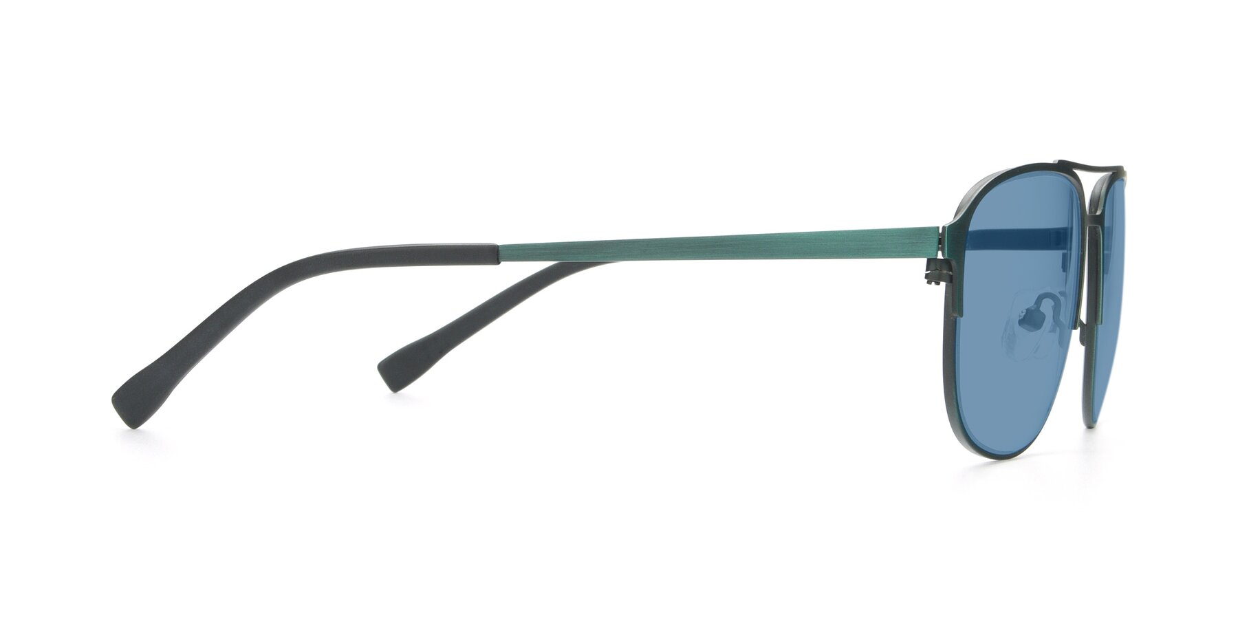 Side of 9513 in Antique Green with Medium Blue Tinted Lenses
