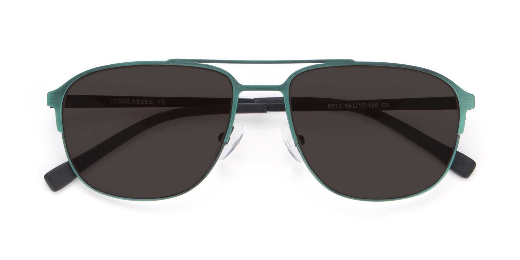 Folded Front of 9513 in Antique Green with Gray Tinted Lenses
