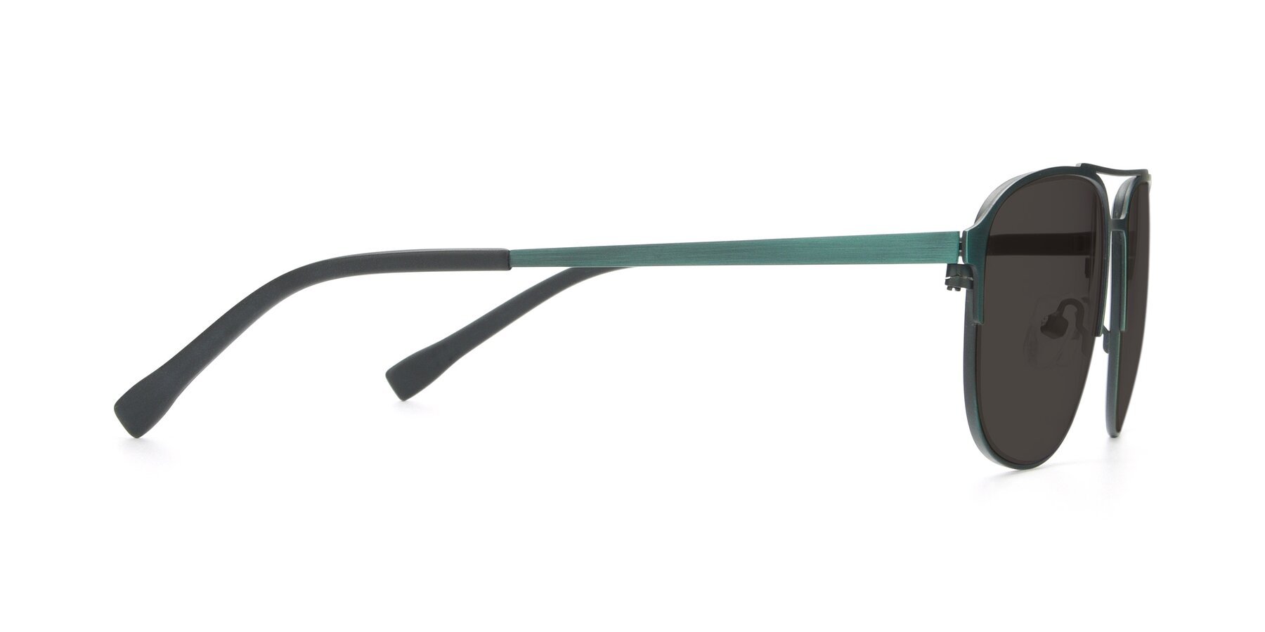 Side of 9513 in Antique Green with Gray Tinted Lenses