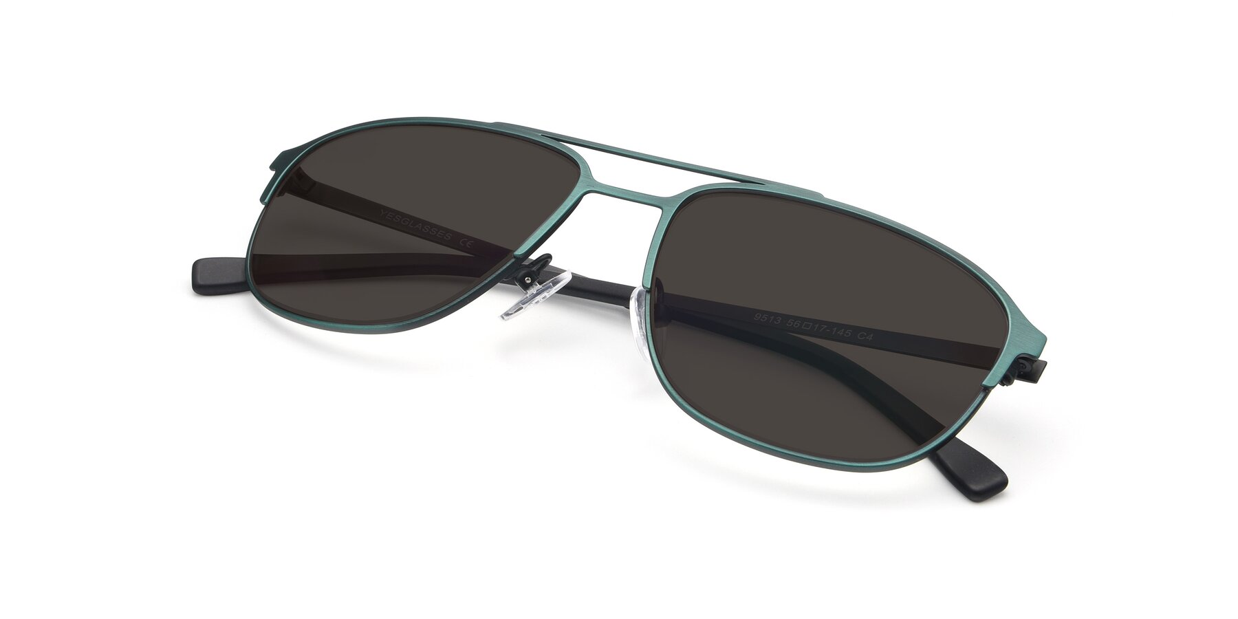 View of 9513 in Antique Green with Gray Tinted Lenses