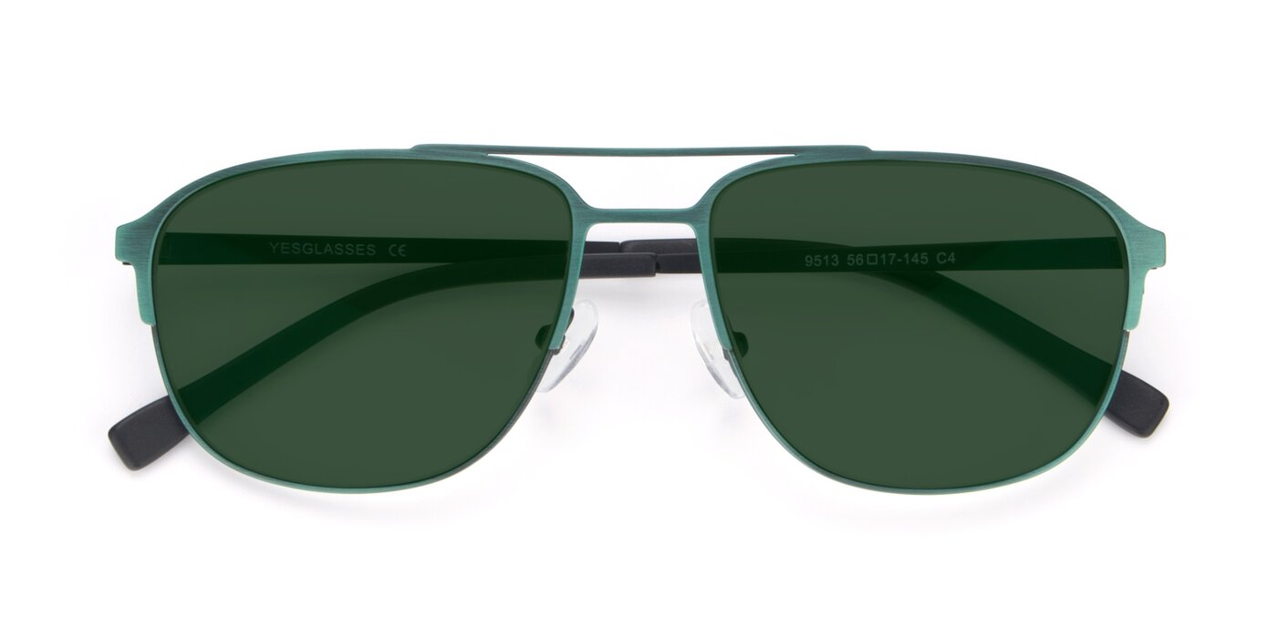 9513 - Antique Green Tinted Sunglasses