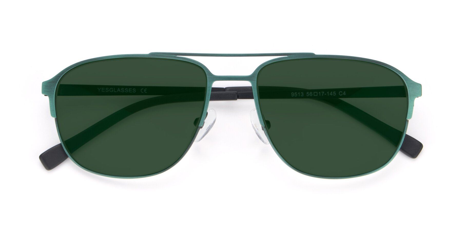 Folded Front of 9513 in Antique Green with Green Tinted Lenses