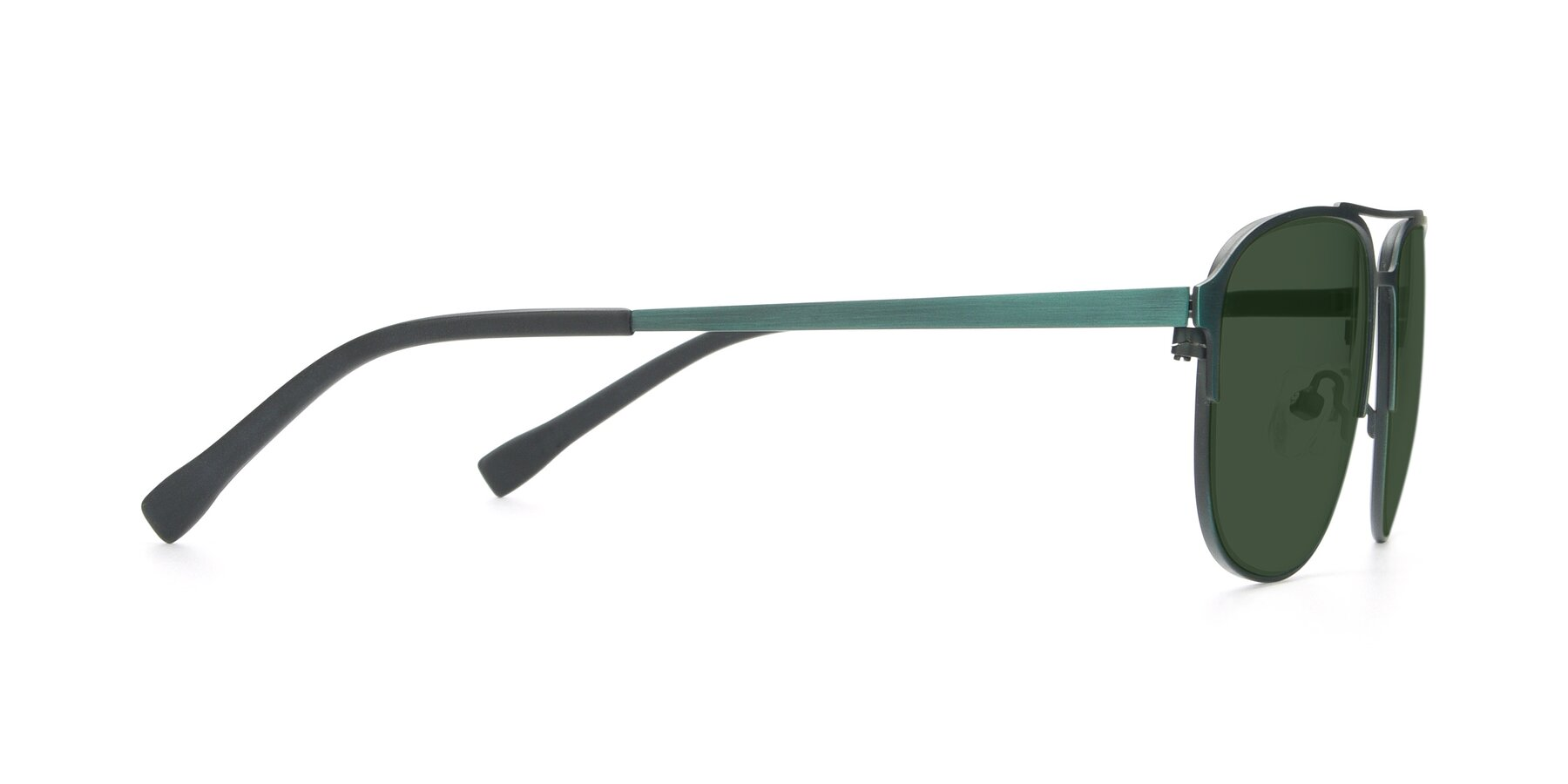 Side of 9513 in Antique Green with Green Tinted Lenses