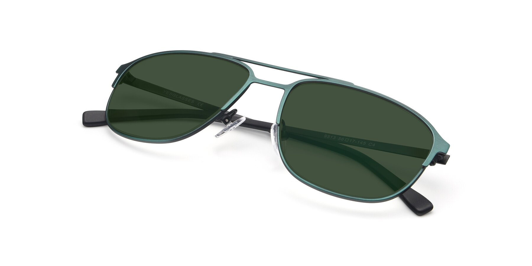 View of 9513 in Antique Green with Green Tinted Lenses