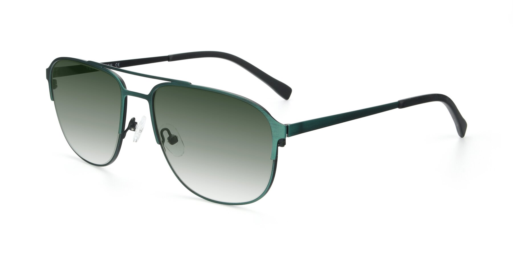 Angle of 9513 in Antique Green with Green Gradient Lenses