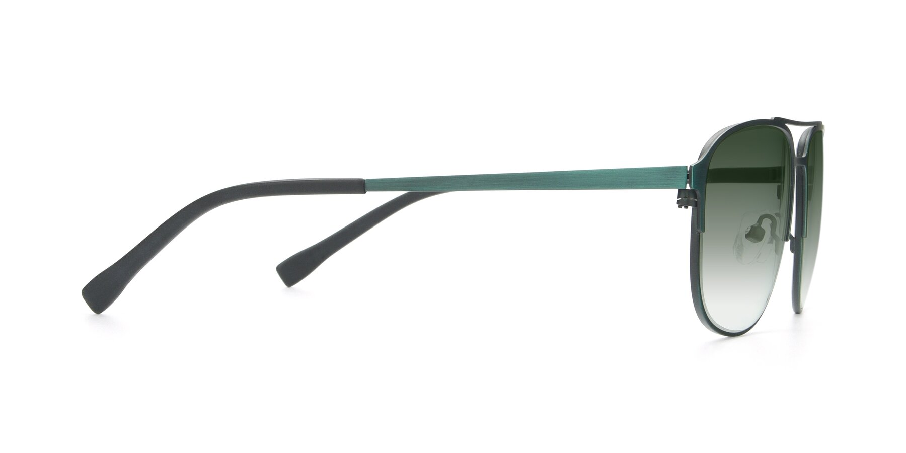 Side of 9513 in Antique Green with Green Gradient Lenses