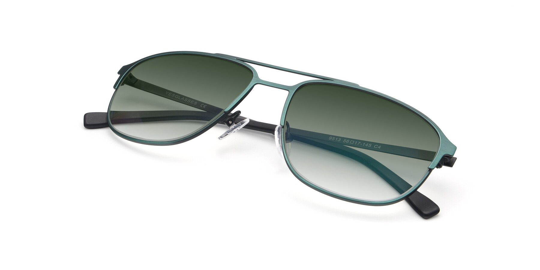 View of 9513 in Antique Green with Green Gradient Lenses