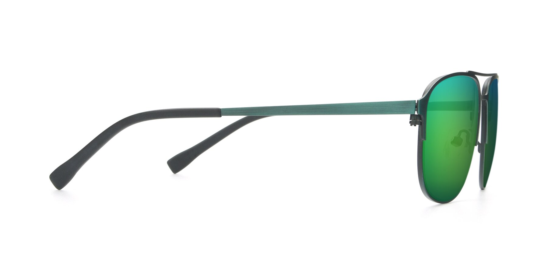 Side of 9513 in Antique Green with Green Mirrored Lenses