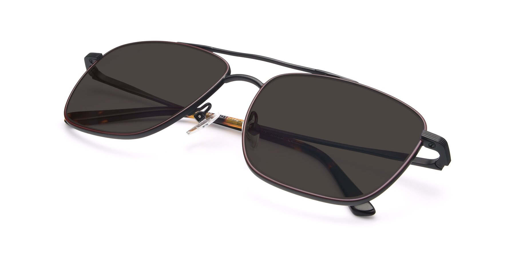 View of 9519 in Burgendy-Black with Gray Tinted Lenses