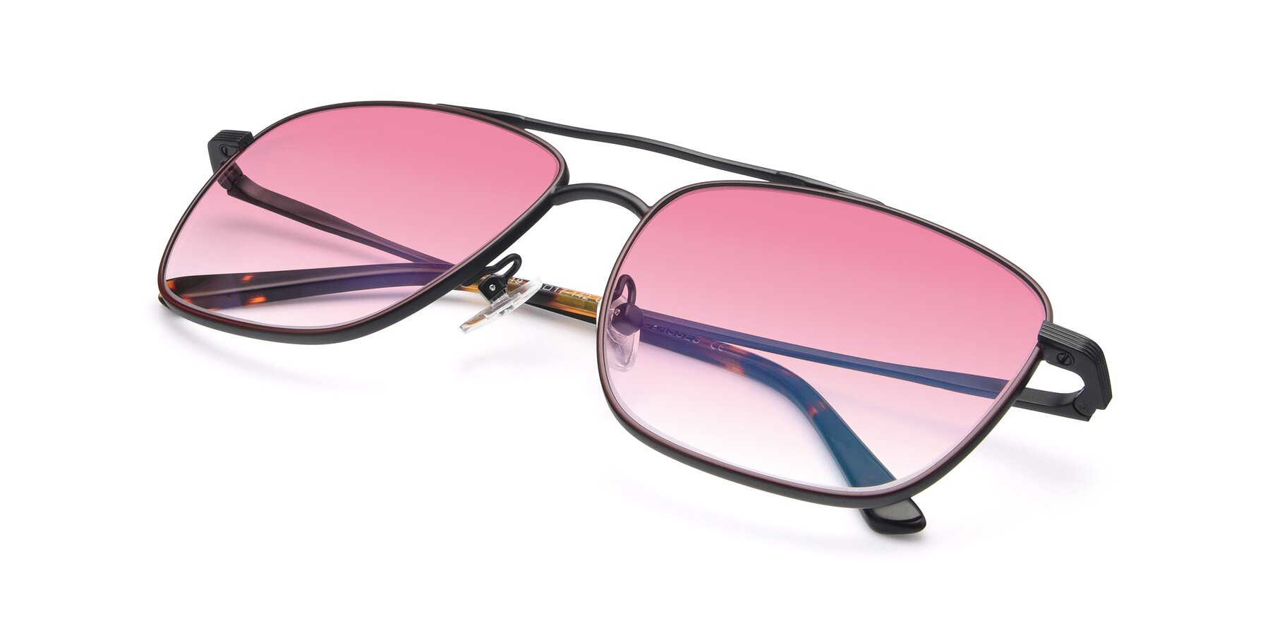 View of 9519 in Burgendy-Black with Pink Gradient Lenses