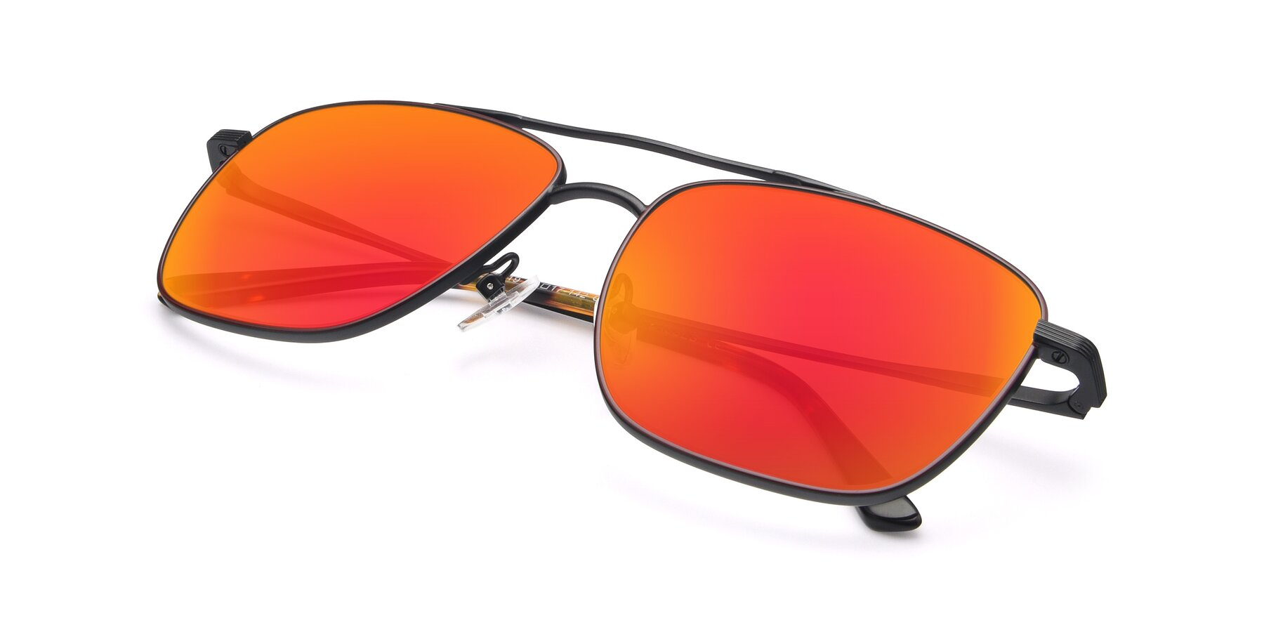 View of 9519 in Burgendy-Black with Red Gold Mirrored Lenses