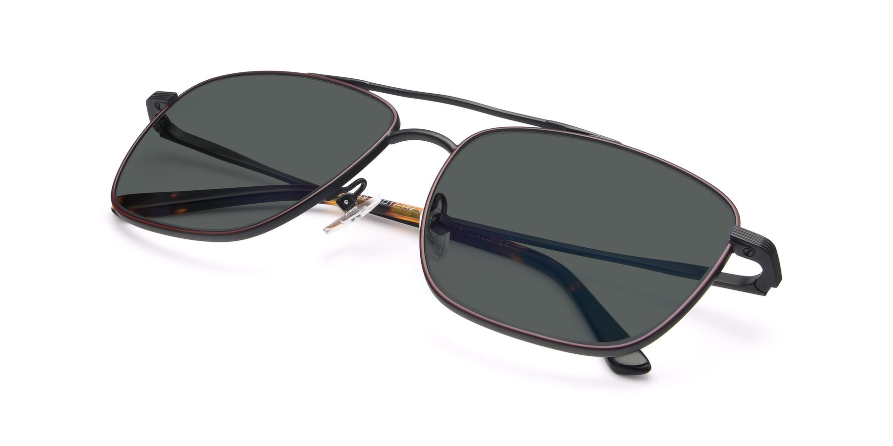 View of 9519 in Burgendy-Black with Gray Polarized Lenses