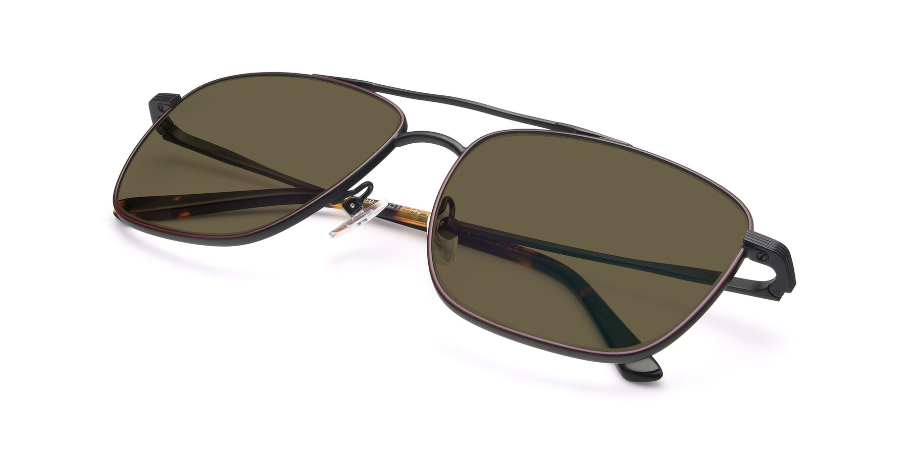 View of 9519 in Burgendy-Black with Brown Polarized Lenses