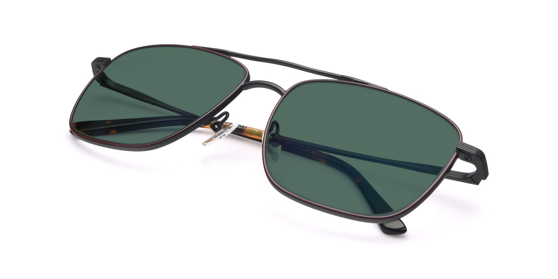 View of 9519 in Burgendy-Black with Green Polarized Lenses