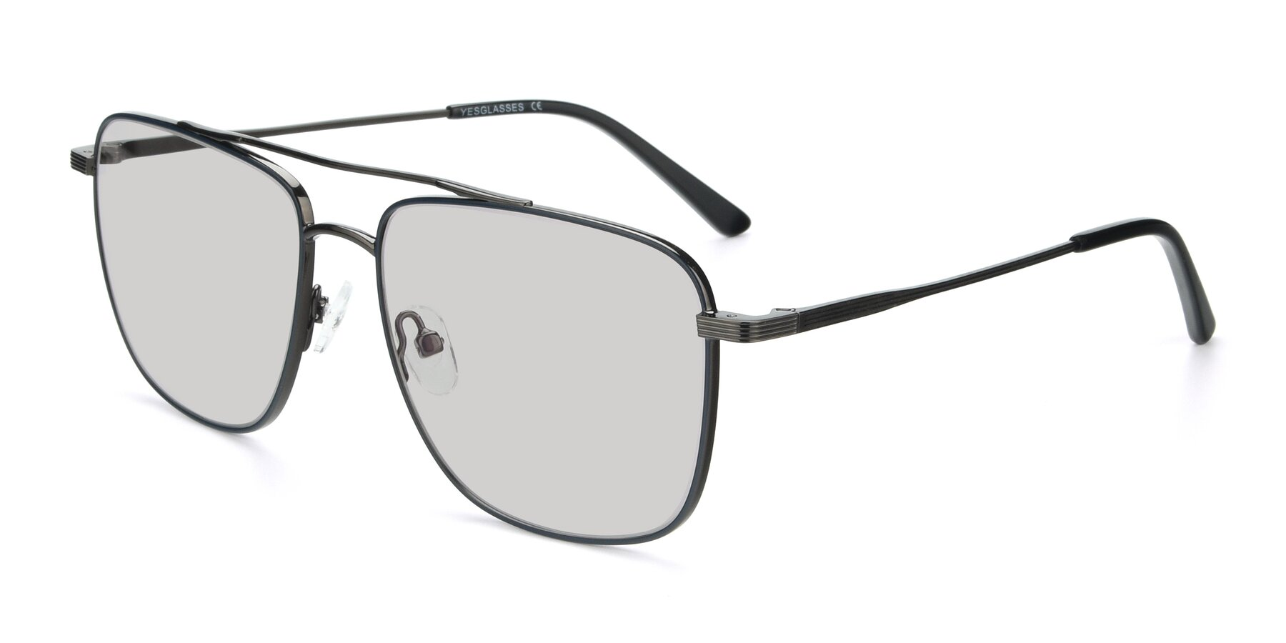Angle of 9519 in Ink Blue-Gun with Light Gray Tinted Lenses