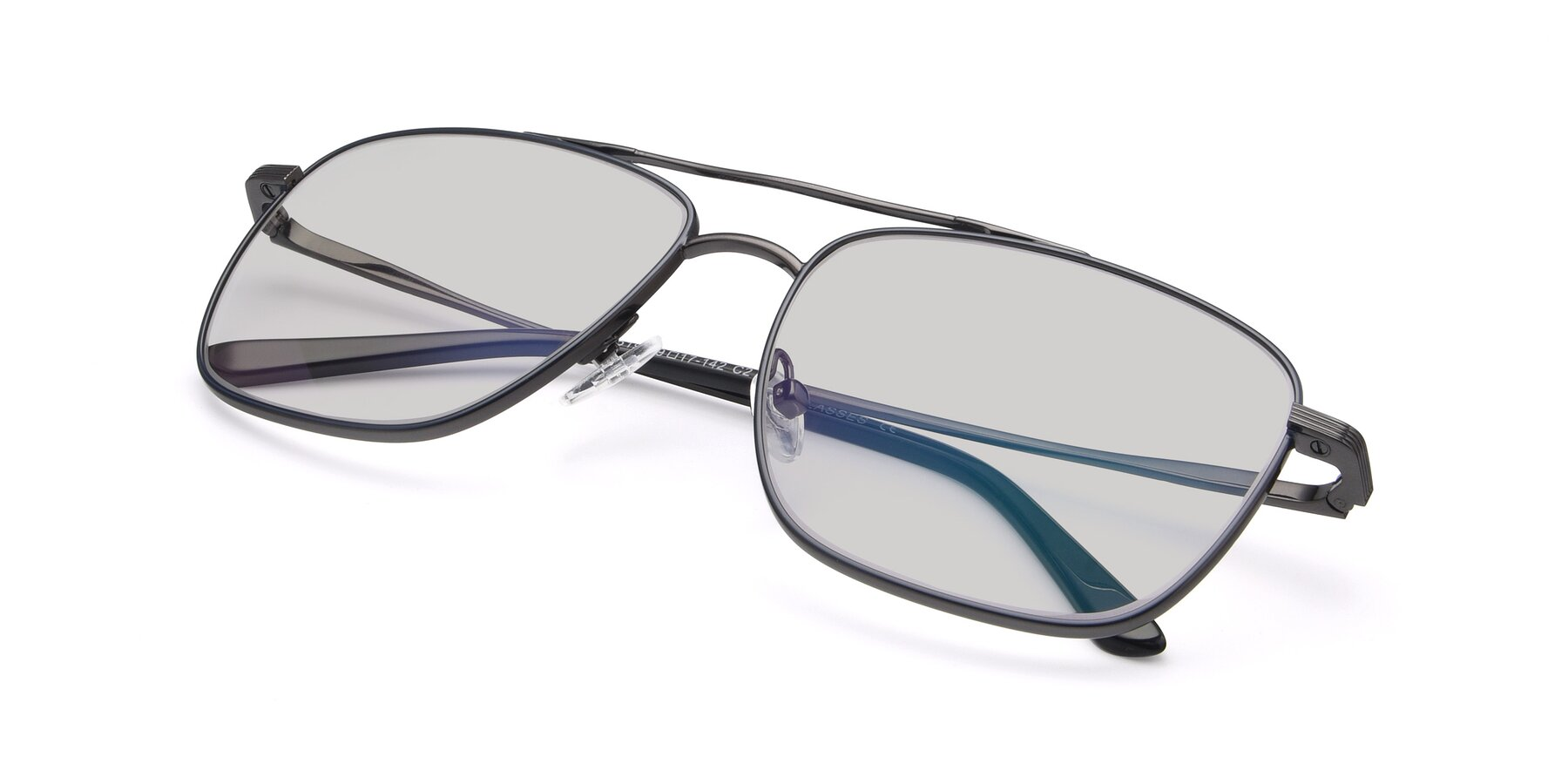 View of 9519 in Ink Blue-Gun with Light Gray Tinted Lenses