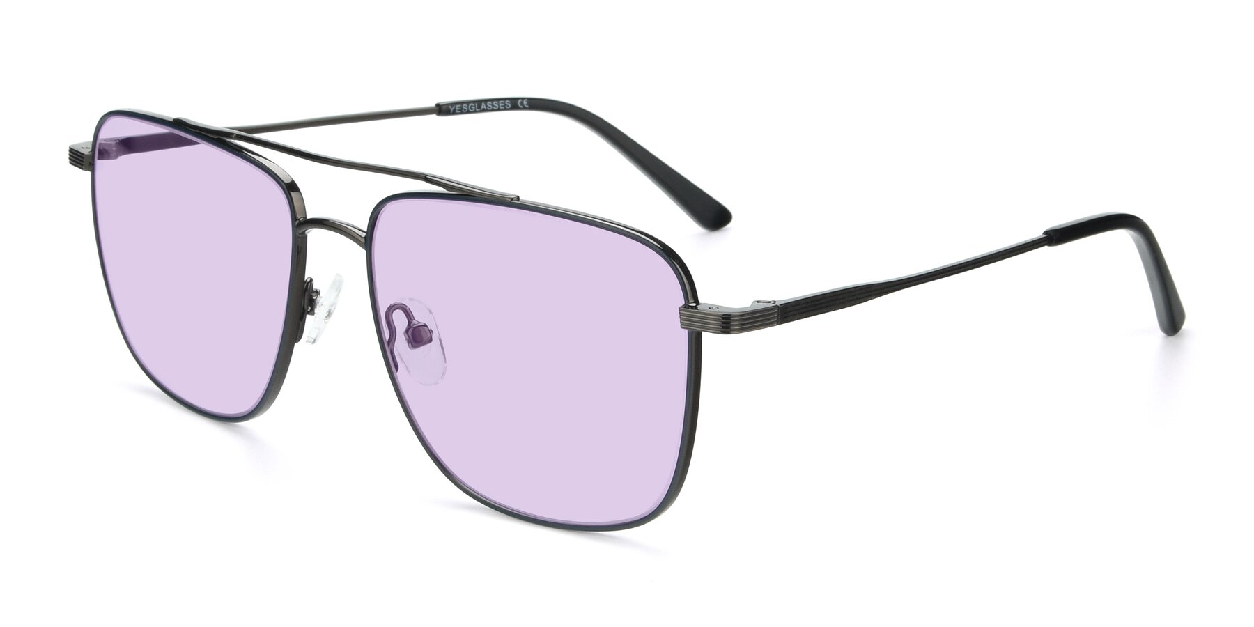 Angle of 9519 in Ink Blue-Gun with Light Purple Tinted Lenses