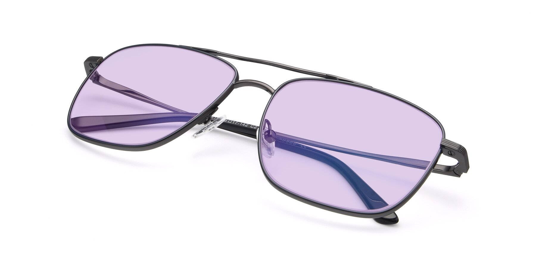 View of 9519 in Ink Blue-Gun with Light Purple Tinted Lenses