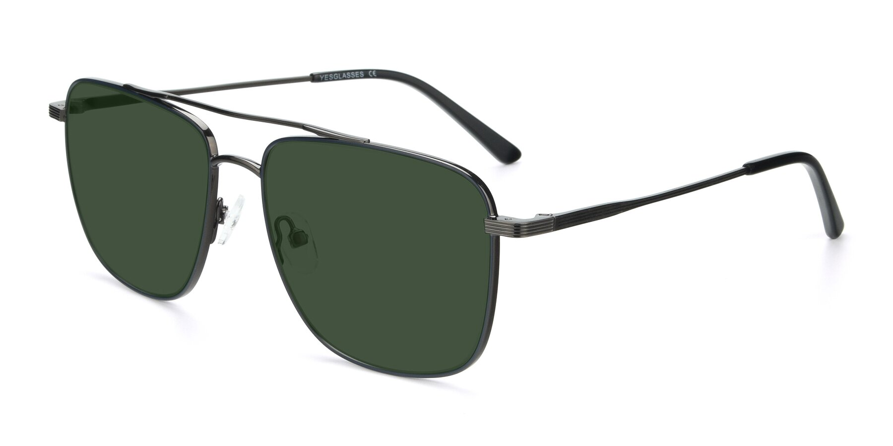 Angle of 9519 in Ink Blue-Gun with Green Tinted Lenses