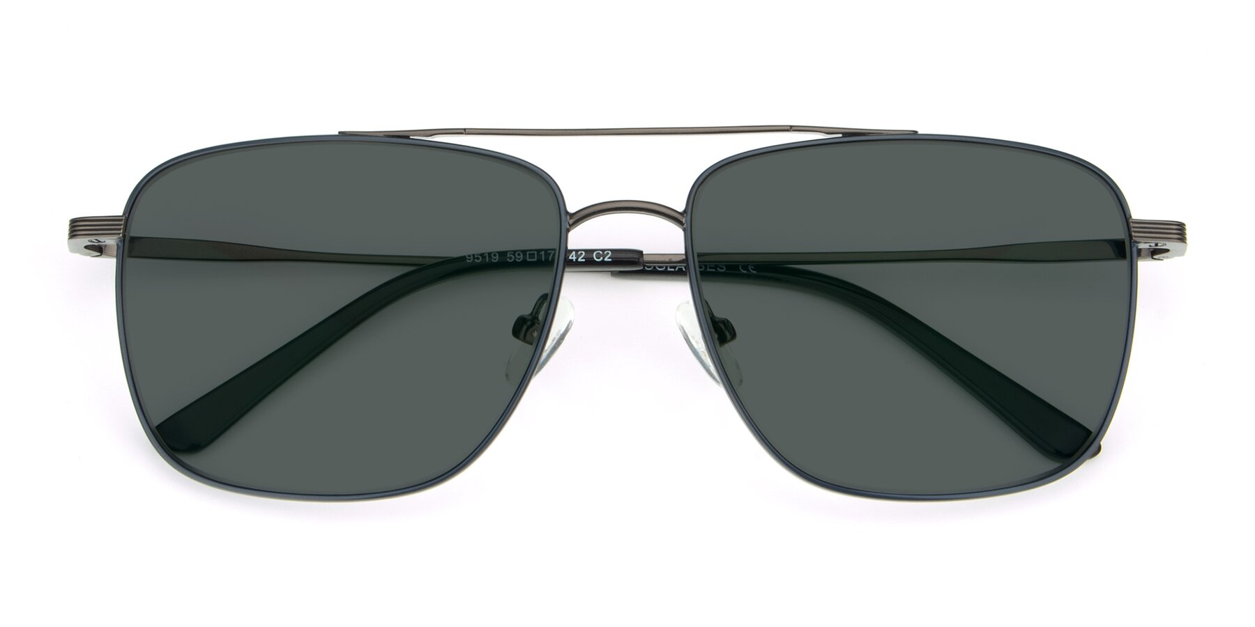 Folded Front of 9519 in Ink Blue-Gun with Gray Polarized Lenses