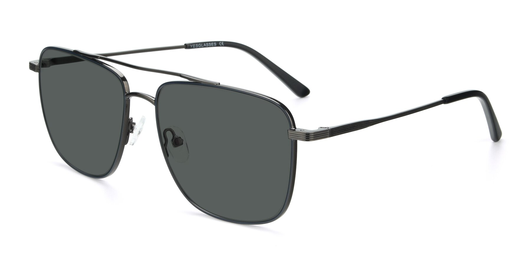 Angle of 9519 in Ink Blue-Gun with Gray Polarized Lenses
