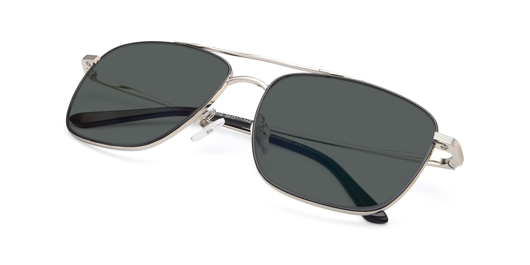 View of 9519 in Black-Silver with Gray Polarized Lenses