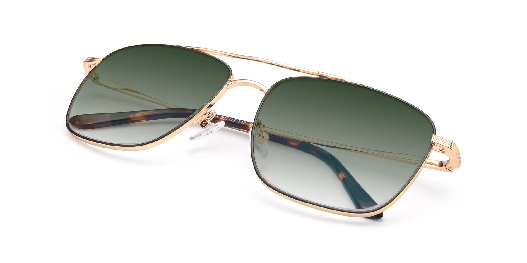 View of 9519 in Black-Gold with Green Gradient Lenses