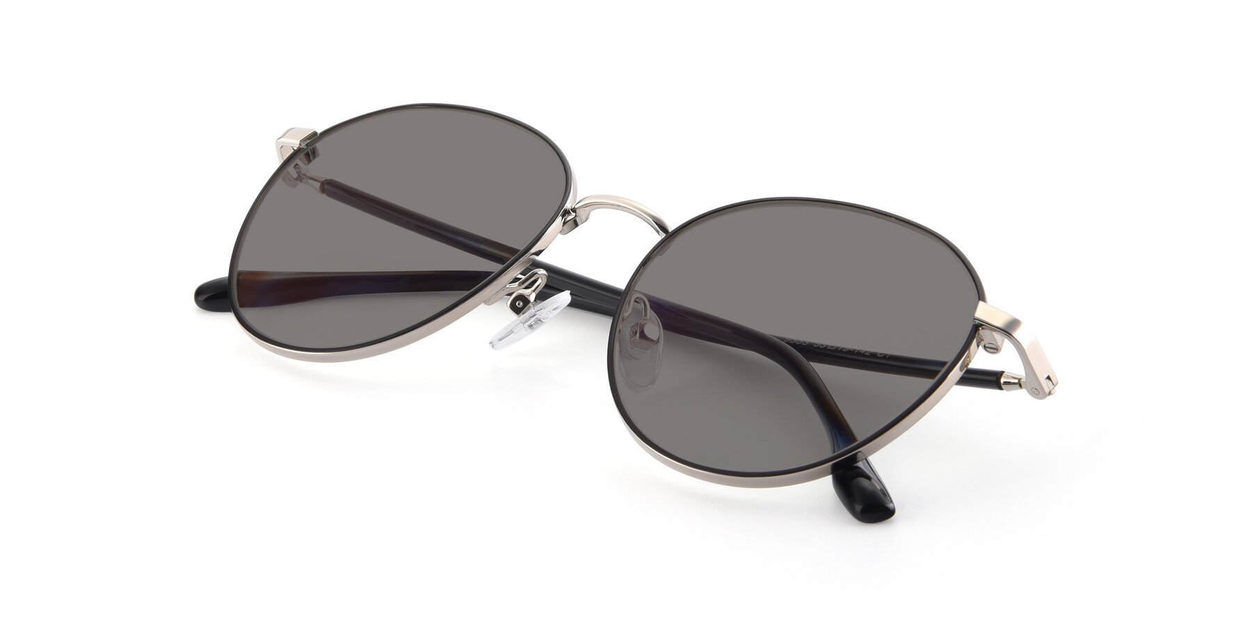 View of 9553 in Black-Silver with Medium Gray Tinted Lenses
