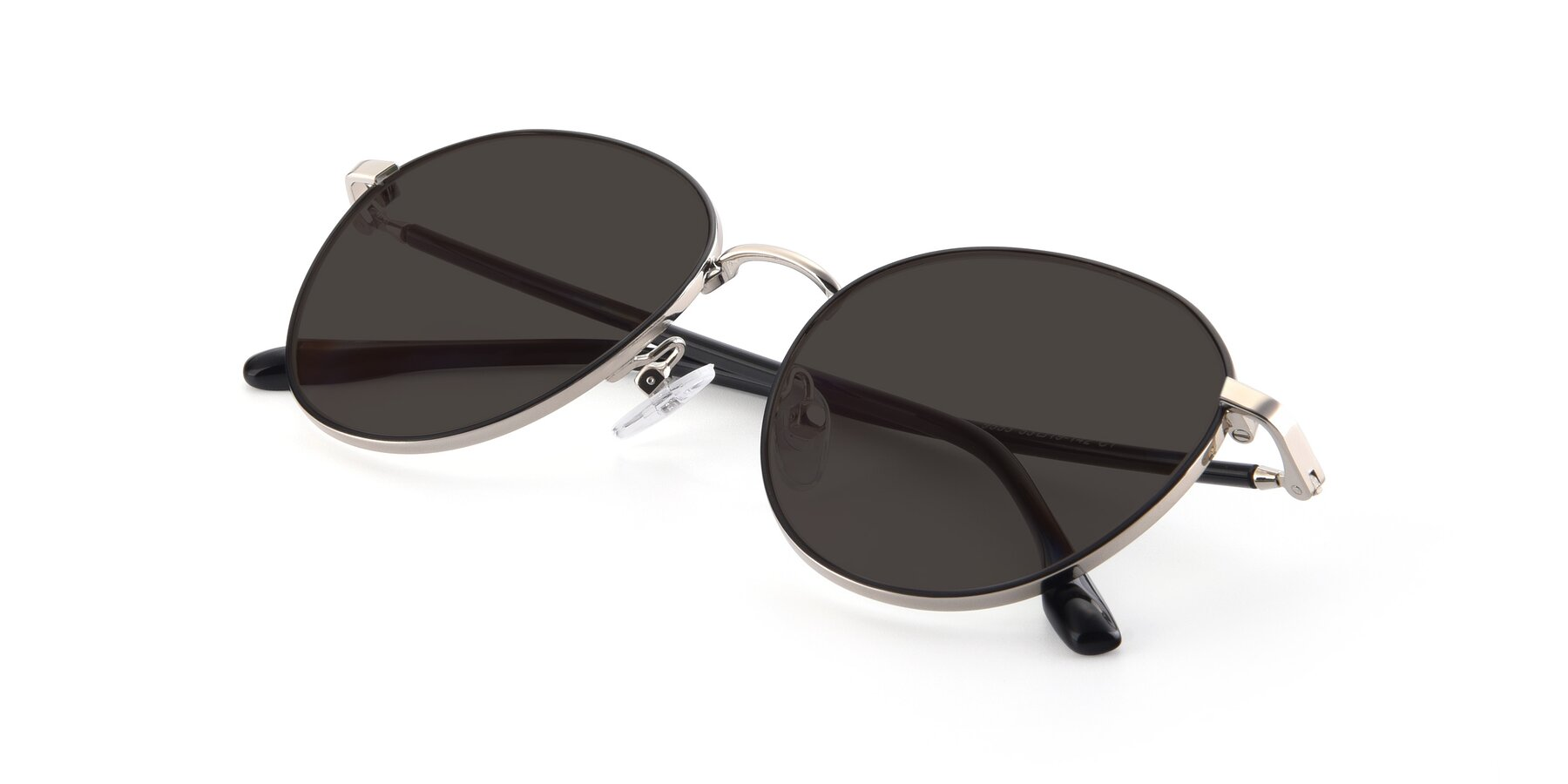 View of 9553 in Black-Silver with Gray Tinted Lenses