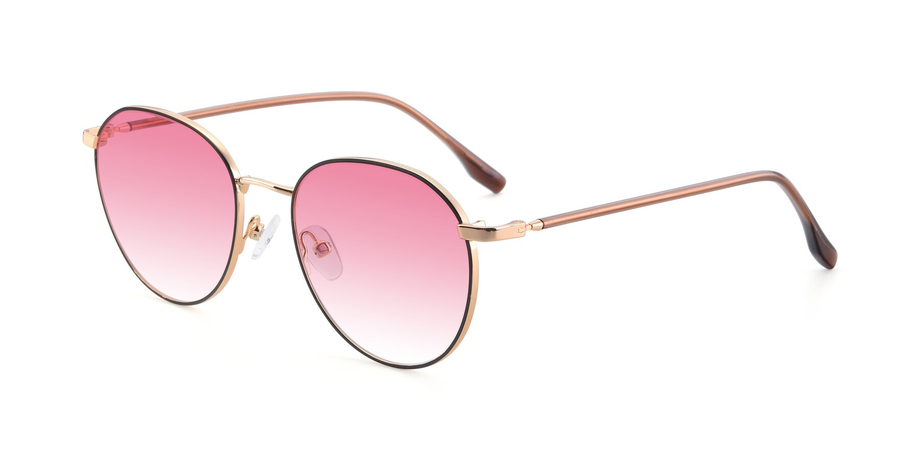Angle of 9553 in Black-Gold with Pink Gradient Lenses