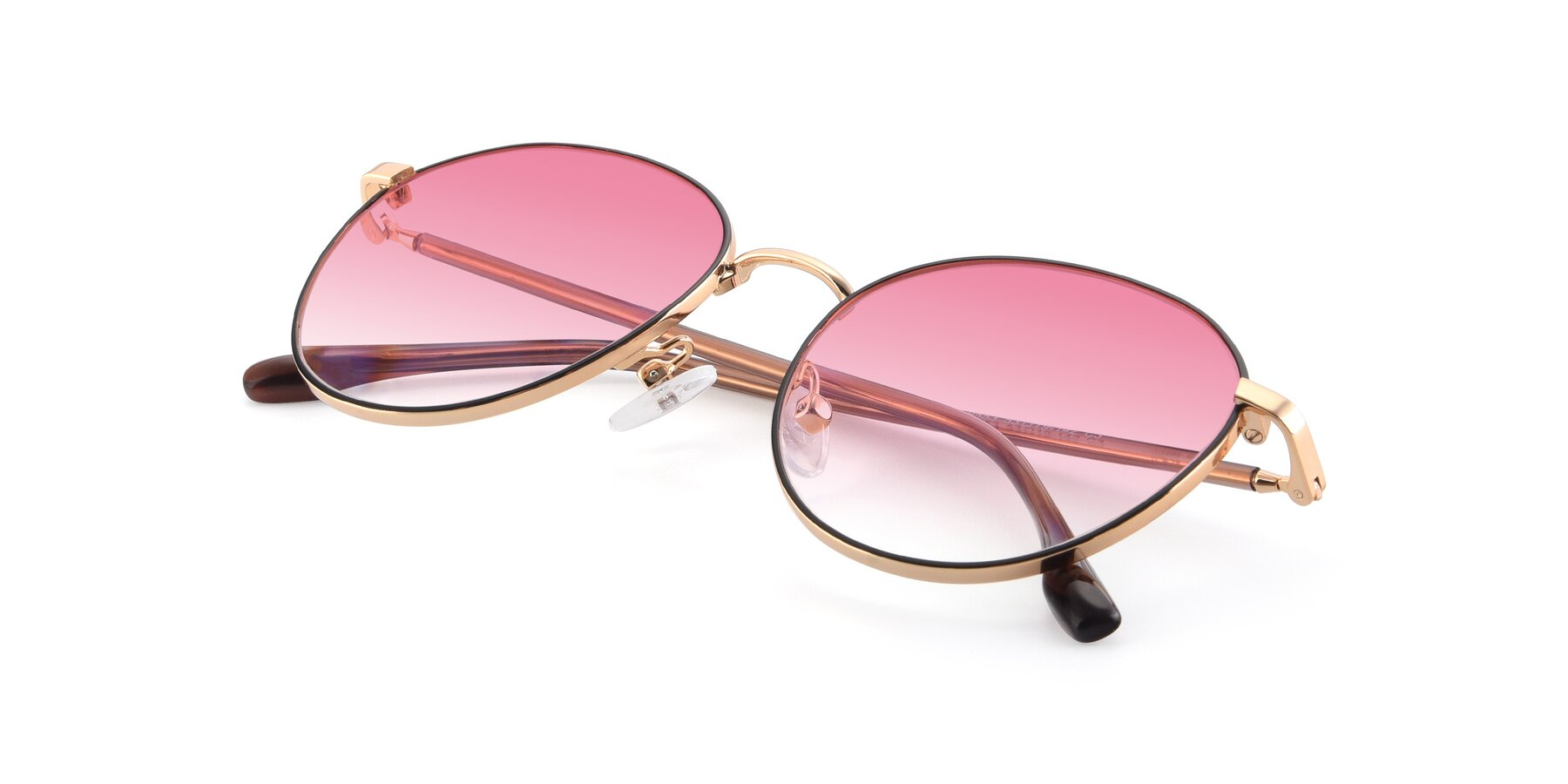 View of 9553 in Black-Gold with Pink Gradient Lenses