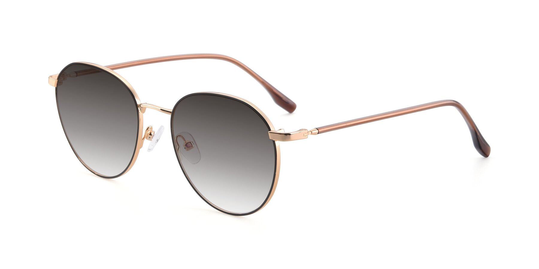 Angle of 9553 in Black-Gold with Gray Gradient Lenses