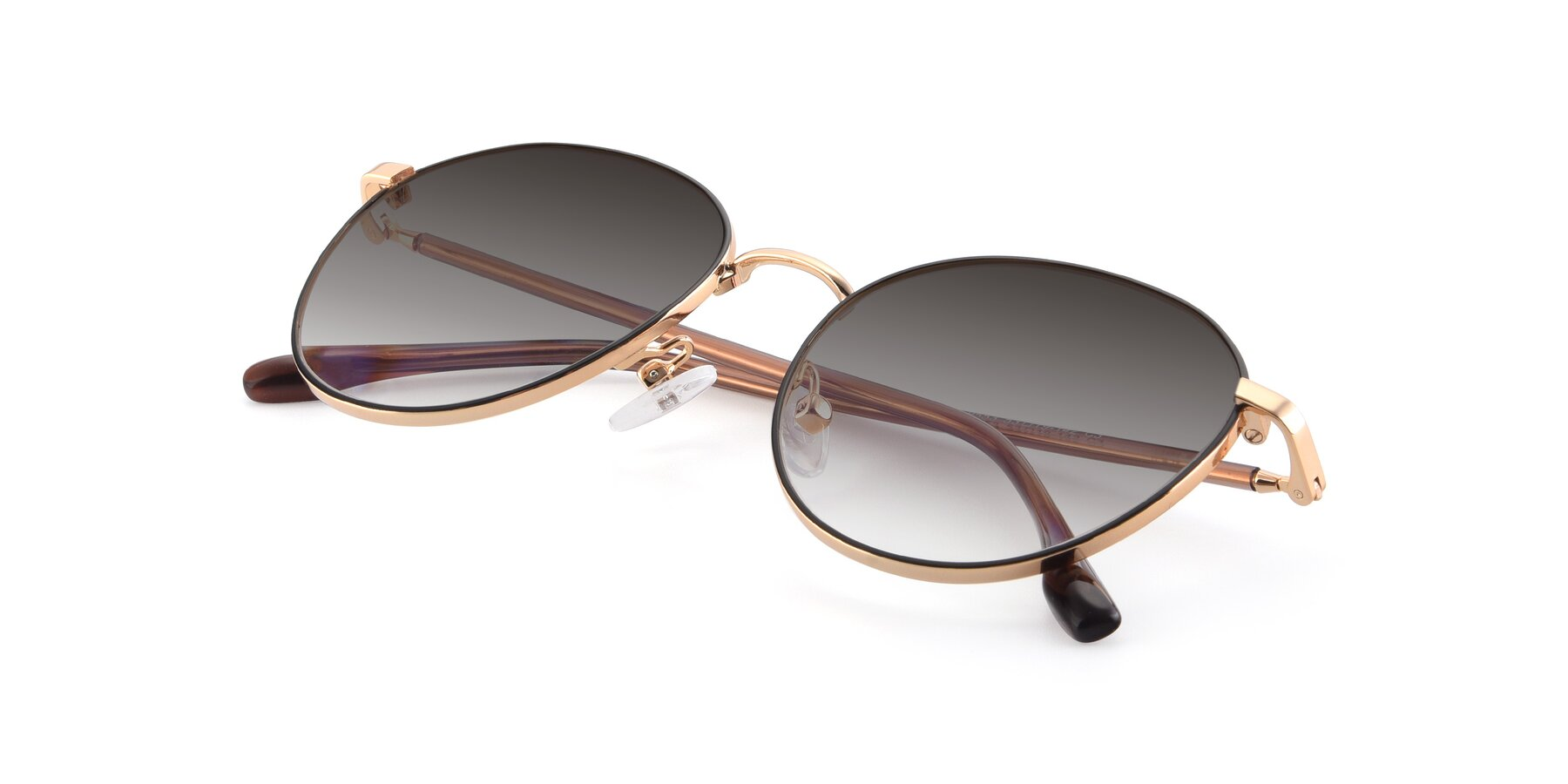 View of 9553 in Black-Gold with Gray Gradient Lenses