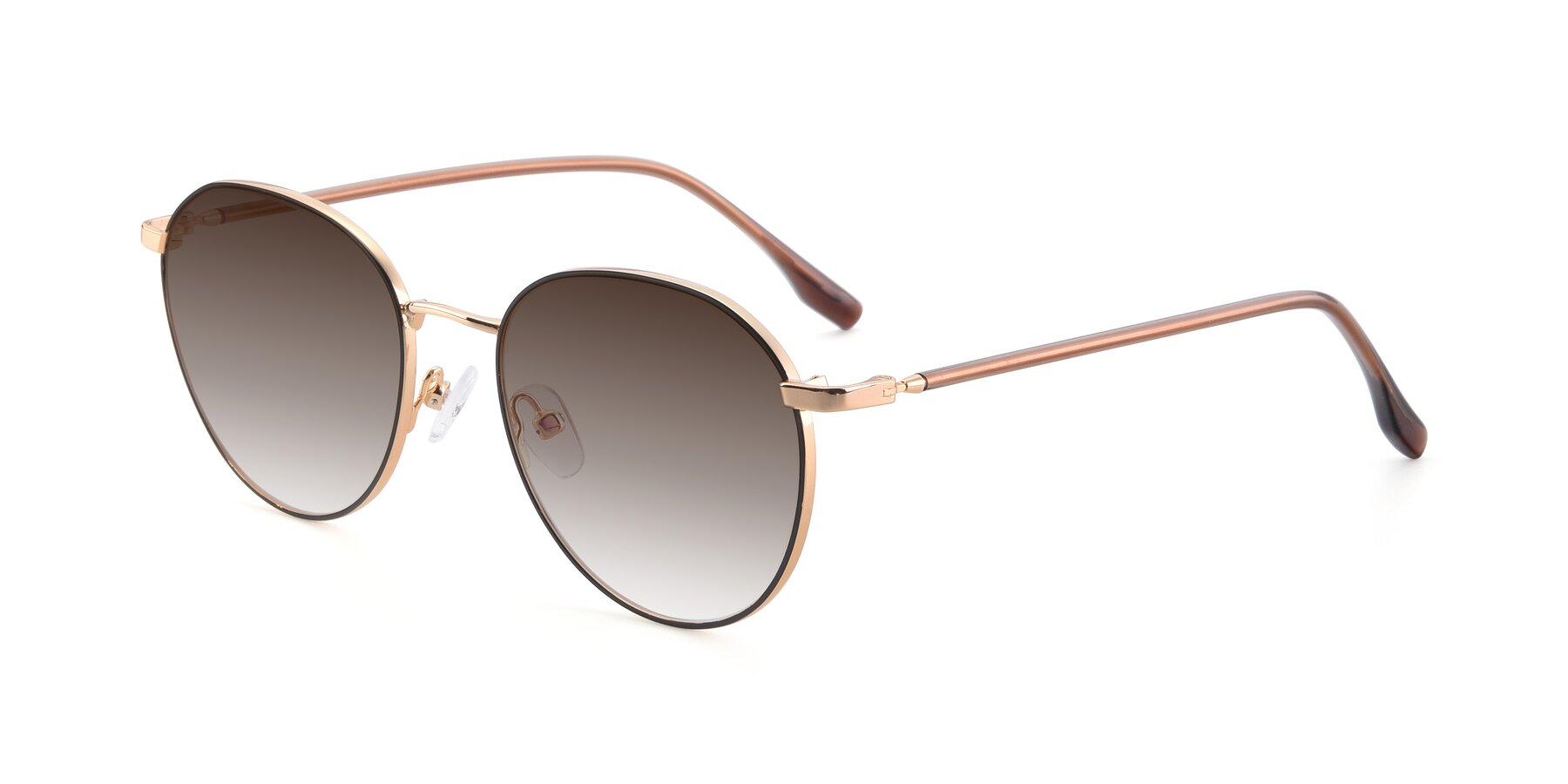 Angle of 9553 in Black-Gold with Brown Gradient Lenses
