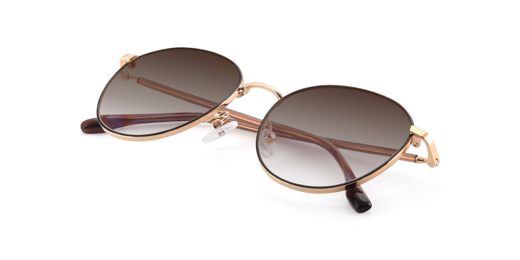 View of 9553 in Black-Gold with Brown Gradient Lenses