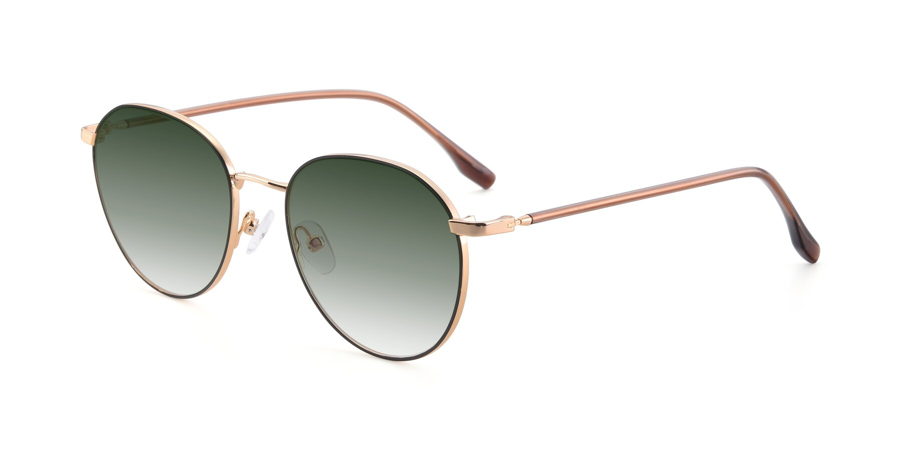 Angle of 9553 in Black-Gold with Green Gradient Lenses