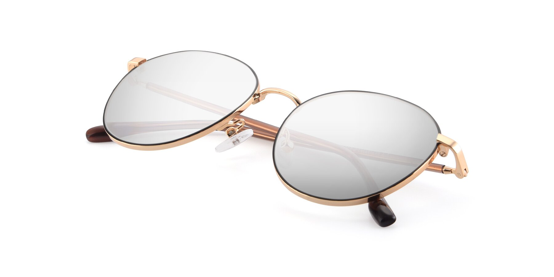 View of 9553 in Black-Gold with Silver Mirrored Lenses