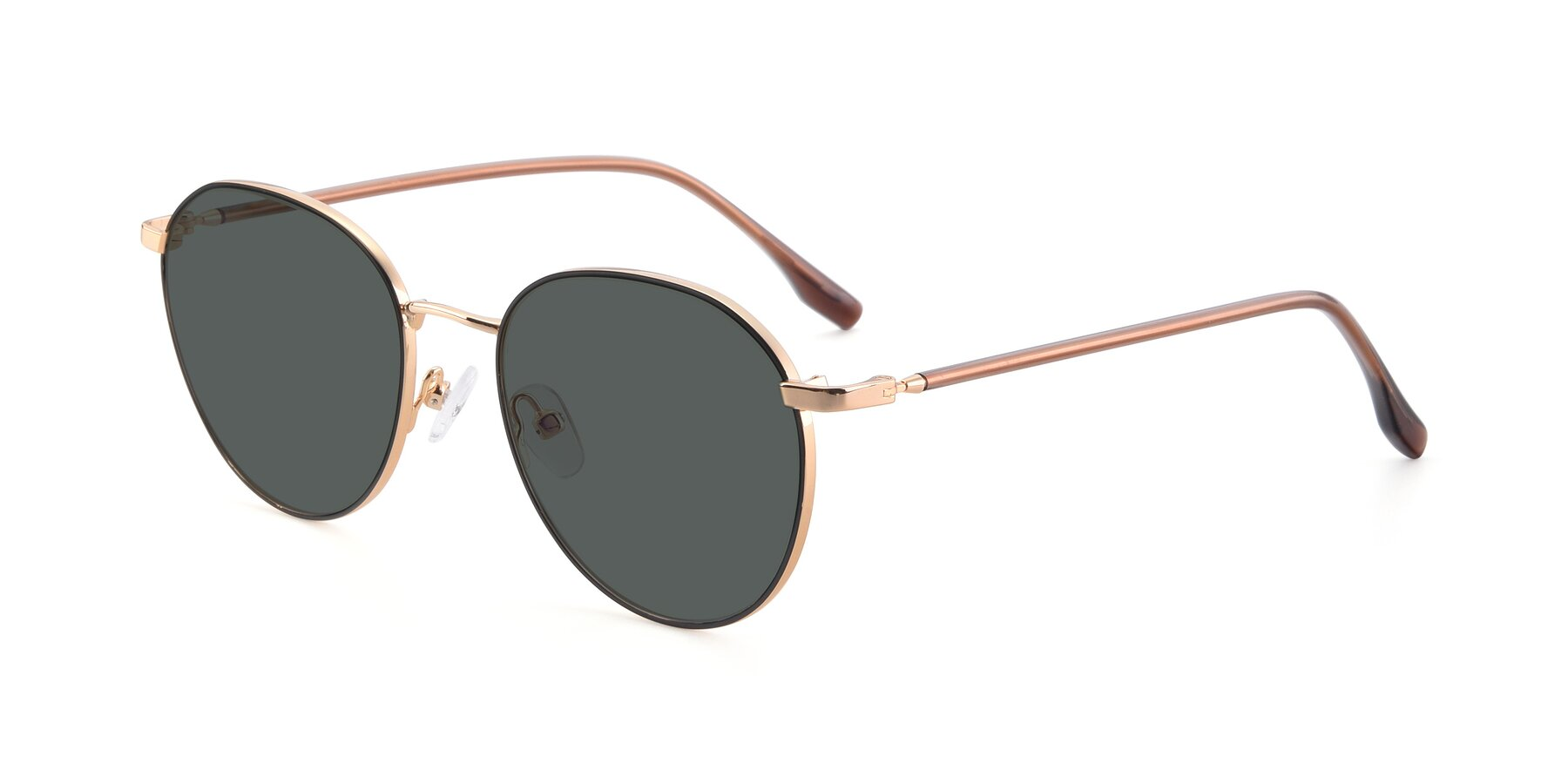 Angle of 9553 in Black-Gold with Gray Polarized Lenses