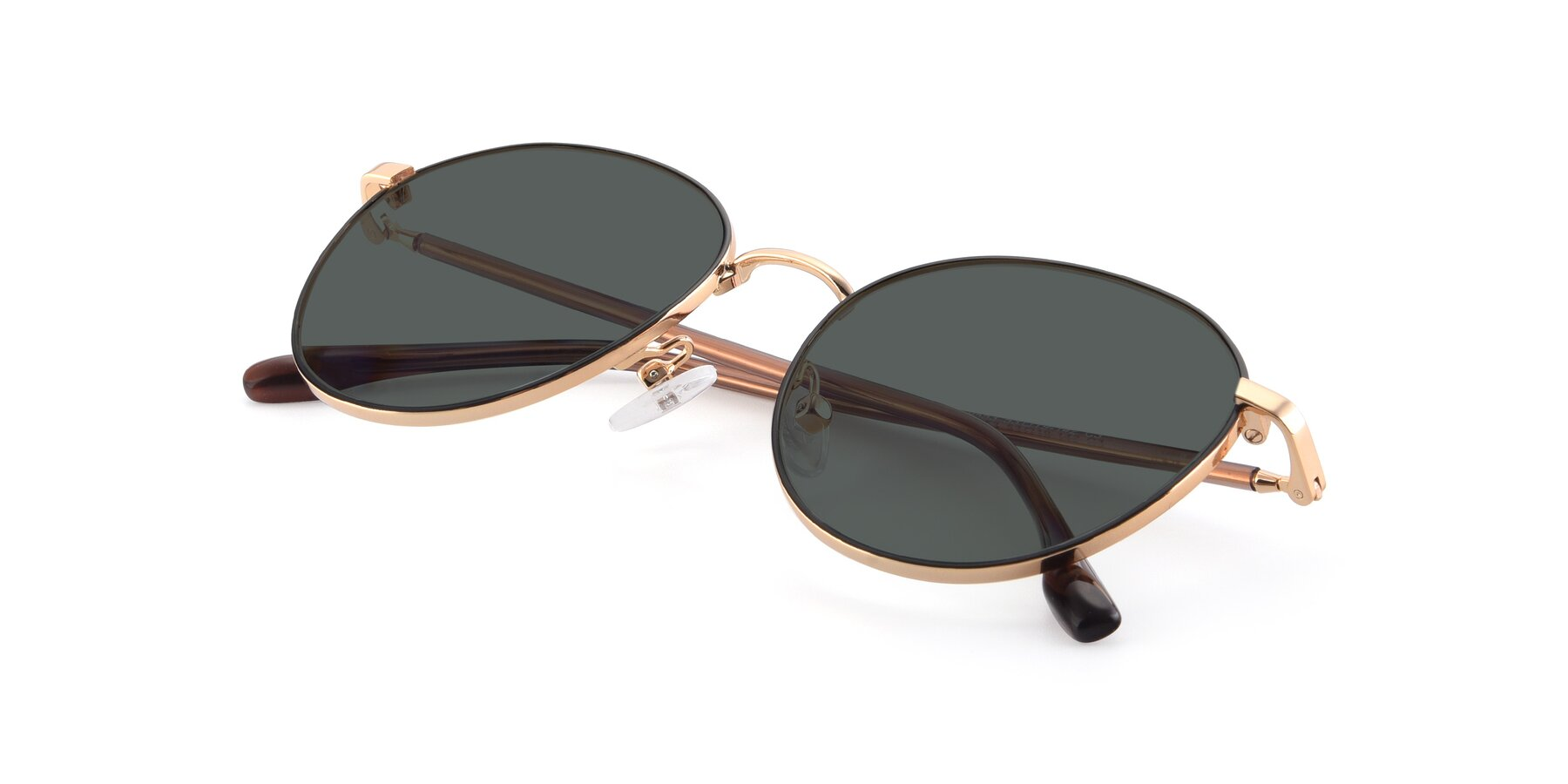 View of 9553 in Black-Gold with Gray Polarized Lenses