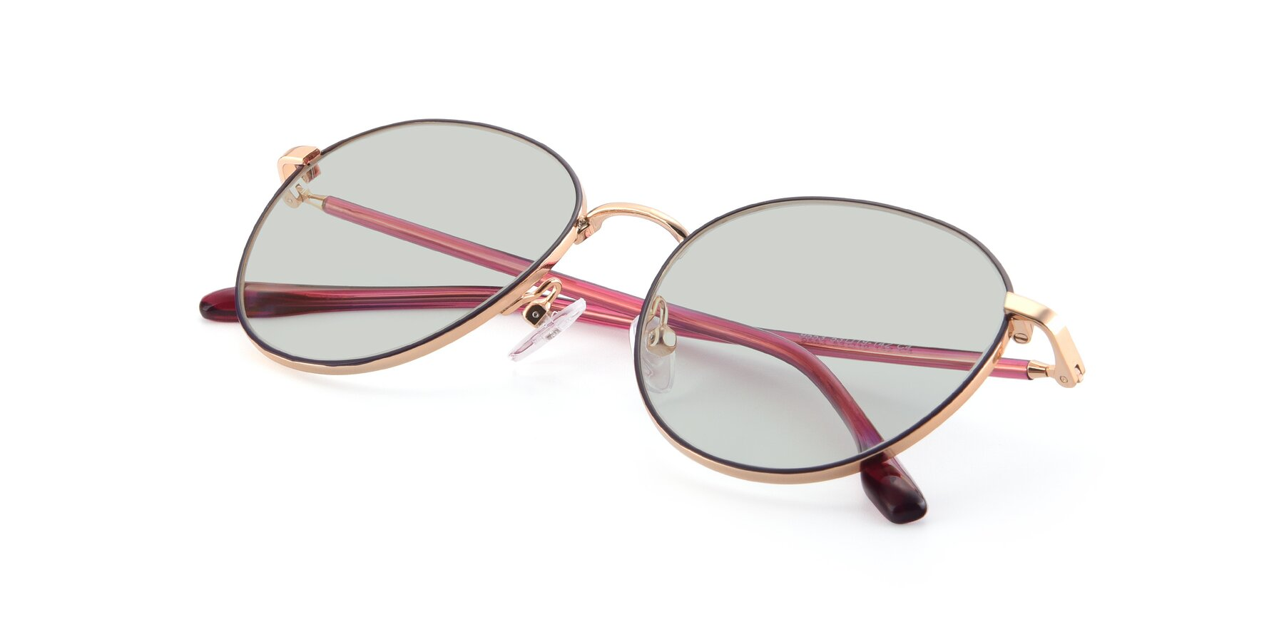 View of 9553 in Purple-Gold with Light Green Tinted Lenses